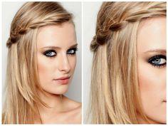 Como fazer um penteado com o cabelo solto