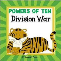 Powers of Ten Division War and Task Cards! Math 5, 5th Grade Math, Fifth Grade, Fun Math, Easel Activities, Unit Plan, Elementary Math, Learn To Read, Math Lessons