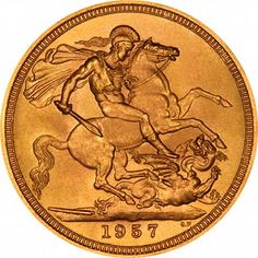 A guide to which countries issued gold coins in and which gold coins were issued in including gold sovereigns, half sovereigns, bullion coins, and other world gold coins. Bullion Coins, Gold Bullion, Saint George And The Dragon, Gold Sovereign, Leigh On Sea, Fish Drawings, Gold And Silver Coins, Dragon Design, Horse Art
