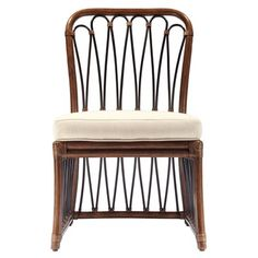 Our Sona Cinnamon Rattan Side Chair from Selamat Designs features a curvaceous teardrop motif in rattan pole adding a graceful note to any dining setting. Rattan Armchair, Leather Recliner Chair, Leather Chairs, Rattan Chairs, Dining Room Chairs, Side Chairs, Accent Furniture, Outdoor Furniture, Furniture Ideas