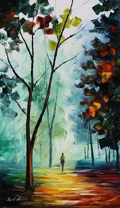 'Clean Thoughts' in oil on canvas by the phenomenal Leonid Afremov