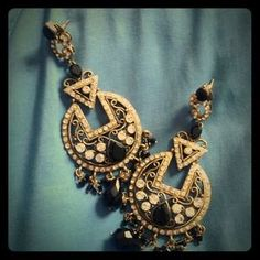 I just added this to my closet on Poshmark: Indian designed crystal and stone earrings. Price: $40 Size: OS