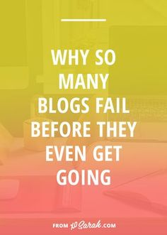 How many people start blogs, get so excited to create content and share what they're passionate about online, and then give up after just a few months? Judging from some quick and dirty internet research, it's A TON. So here are 4 things that lead beginner bloggers straight toward failure so that you can grow your blog AND keep it going strong for a long time.