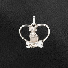 Sterling Silver Schnauzer Pendant with Chain.  25% off through May 10th.  Apply Coupon MOTHERSDAYOFF25 at register