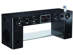 TV-Möbel Soundbar Watts für iPod/iPhone - Schwarz