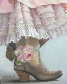 I have my new skirt on and boots to match, I'm ready for the barn dance..................