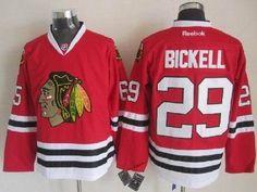2014 NHL Chicago Blackhawks 29  Bryan Bickell Red Jerseys 7eaa30b7c