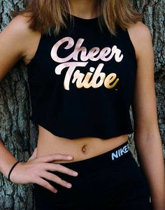 $23.95. Cheerleading crop top. Cheer practice tank top. Cheer tribe. Cheer practice / squad clothes. #cheerleading #ad
