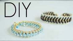 How To Make Easy Chain & Rhinestone Friendship bracelets, via YouTube.