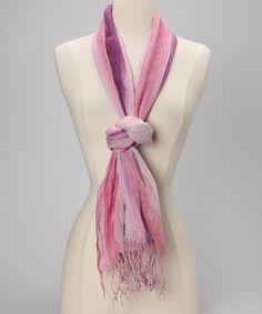Purple Ombre Linen Scarf by Spun Scarves by Subtle Luxury
