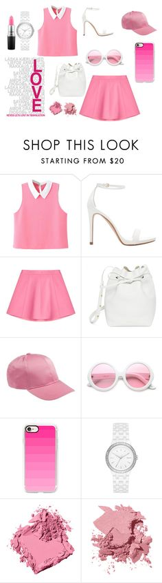 """""""PrettyInPink"""" by nikkicouture ❤ liked on Polyvore featuring WithChic, Zara, RED Valentino, Mansur Gavriel, ZeroUV, Casetify, DKNY, Bobbi Brown Cosmetics, MAC Cosmetics and chic"""