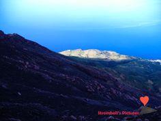 #Landscape seen from the #volcano #Stromboli.