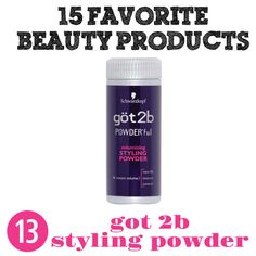 """I love this Got 2 B Texturizing Powder....it's like instant beachy hair. It's the only way to get a mohawk to work with short hair. Great for long hair to get volume at the roots. You'll throw out the """"Bumpit""""....."""