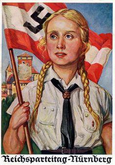 German poster for the Bund Deutscher Mädel. (The League of German Girls or League of German Maidens).