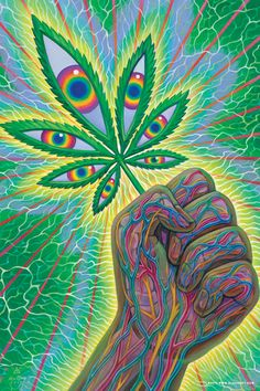 Art posted by Alex Grey in celebration of legalized recreational marijuana in California - Dope - Kunst Marijuana Art, Cannabis, Medical Marijuana, Dope Kunst, Alex Gray Art, Psychadelic Art, Weed Art, Stoner Art, Psy Art