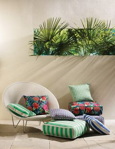 Sea Breeze Outdoor Indoor Fabric Collection by Osborne And Little | Outdoor Fabrics | TM Interiors Limited