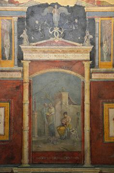 Fresco from the cubiculum of the Villa Farnesina, 1st century AD, Palazzo Massimo alle Terme, Rome