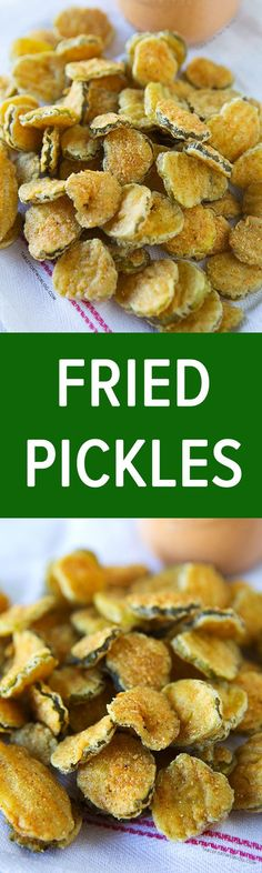 Fried pickles are addictive and easy to make for any party or whenever a craving hits! Appetizer Recipes, Snack Recipes, Cooking Recipes, Appetizers, Protein Recipes, Cake Recipes, Air Fry Recipes, Deep Fryer Recipes, Potato Recipes