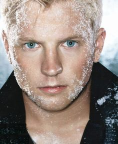 Kimi Raikkonen - Finnish Formula 1 Racecar Driver and typical Finnish blue eyes