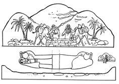 Healing+by+the+pool+of+Bethesda+papercraft+(John+5)++#