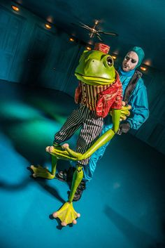 The Frog Footman. from Alice's Adventures Underground, By Les Enfants Terribles, and Designed by Samuel Wyer. An immersive theatre production in London of Alice Through the Looking Glass and Alice in Wonderland Photograph by Rah Petherbridge