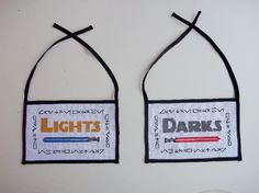 I need these!!!    Star Wars cross stitched Darks/Lights laundry by TheFinalThread, $20.00