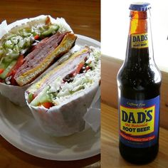 Enjoy a delicious bottle of Dad's Root Beer with our Ham & Cheese sandwich at your neighborhood deli today! #PleasingPair #YummySandwiches #HamandCheese #Sandwiches #DadsRootBeer #RootBeer #BrickMarketDeli #Pomona