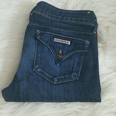 "Hudson Straight Leg Size 28 Inseam approx  31.3"" Like New Dark/Straight leg Hudson Jeans Jeans Straight Leg"