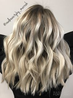 Ashy rooted blonde balayage