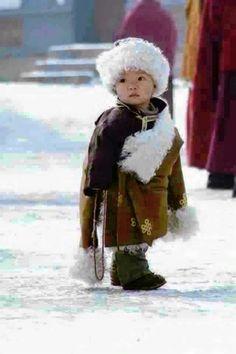 Braving the cold. Bhutan