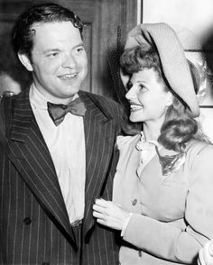 Rita's surprise elopement in the middle of shooting Cover Girl to marry Orson Welles.The press had a field day describing it as the marriage of Beauty and the Brain. (September 9, 1943.)