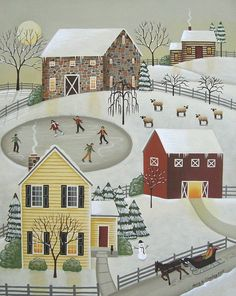 Winter Fun Print By Mary Charles