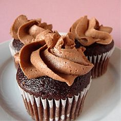 Chocolate Buttercream | Chocolate Cupcakes with Chocolate Frosting | Brown Eyed Baker