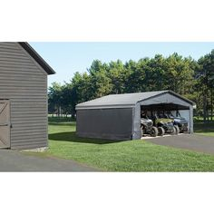 Arrow Carport Enclosure Kit, 20 x 20 ft, Outdoor Carport Canopy Kit (Carport not Included) - Walmart.com - Walmart.com Carport Covers, Carport Canopy, Layered Weave, Canopy Frame, Panel Doors, Storage Solutions, Outdoor Gear, This Is Us, Shed