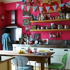 Colourful kitchen.