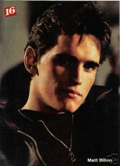 MATT DILLON pinup – Tough in leather! Cool shadows!