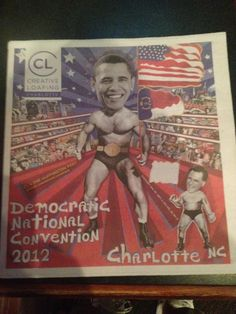 Front page of a paper on display from CL and the Huffington post
