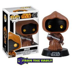 This is the Star Wars POP Jawa Bobble Head Vinyl Figure that is produced by Funko. This Jawa is very special having just been released from the Funko vault and being re-issued again with altered packa