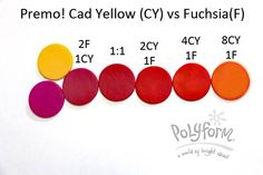 Cad Yellow and Fuchsia ~ Polymer Clay Colormix
