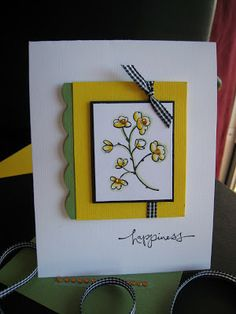 handmade greeting card ... basic clean design ... layered central panel ...
