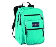 A cute blue chevron backpack! It's a Jansport big student backpack ...