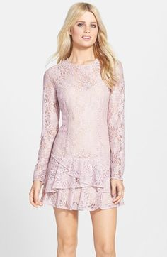 BCBGMAXAZRIA 'Lysa' Drop Waist Lace Dress available at #Nordstrom