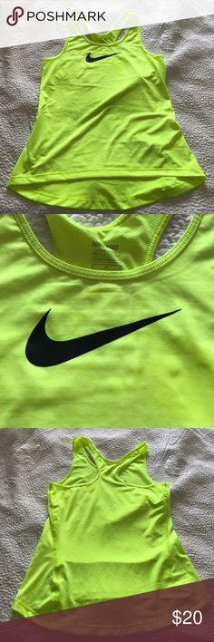 Nike Dri-fit neon tank NWOT Like new! Neon! Size M but more like S Nike Tops Muscle Tees