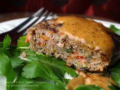 Thai Turkey Burger with Almond Butter Chili Sauce