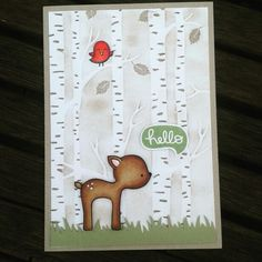 #lawnfawn #intothewoods #stampinup #amongthebranches #coloring #copic