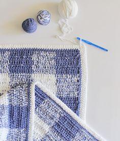 Free pattern gingham extended hdc blanket