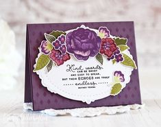 Papertrey ink March Release - Day 5 (Just Give Me Stamps) Sympathy Cards, My Stamp, Flower Cards, Clear Stamps, Your Cards, I Card, Card Making, Paper Crafts, Ink