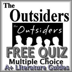 FREE!  27 Question Multiple-Choice Common-Core Aligned Quiz for The Outsiders. This covers the first three chapters of the novel.The multiple choice format allows quick and easy grading for teachers.