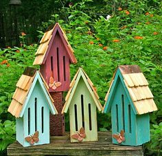 Love these butterfly houses.