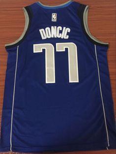 Basketball Hoodie NBA 77# Luka Doncic Dallas Mavericks Sports Jacket Sweatshirt Tops Basketball Competition Jerseys,Blue,S